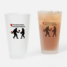 Bigfoot Remembers Valentines Day Drinking Glass