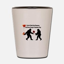 Bigfoot Remembers Valentines Day Shot Glass