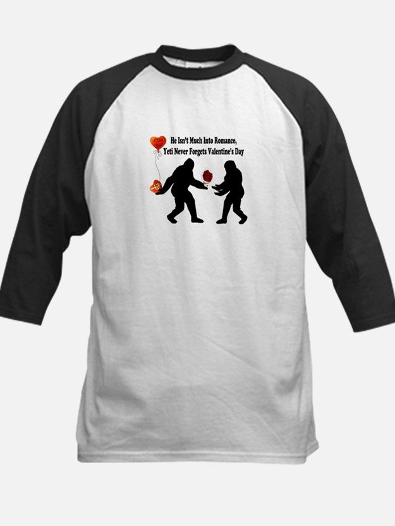 Bigfoot Remembers Valentines Kids Baseball Jersey