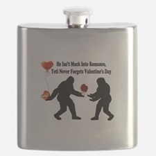 Bigfoot Remembers Valentines Day Flask