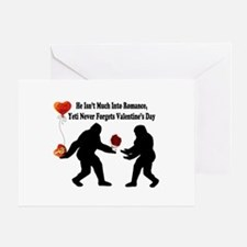 Bigfoot Remembers Valentines Day Greeting Card