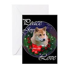 Shiba Inu Christmas Greeting Cards (Pk of 10)