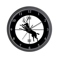 Deer In The Scope Hunter Wall Clock