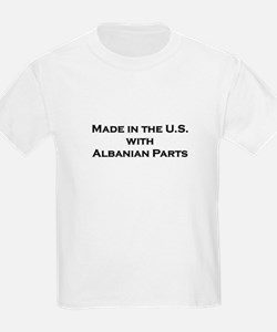 Made in the U.S. with Albanian Parts Kids T-Shirt