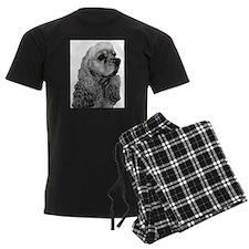 Sketched Cocker Head Pajamas