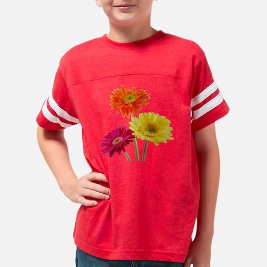 Daisy Gerbera Flowers Youth Football Shirt