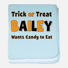 Bailey Trick or Treat baby blanket