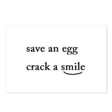 Cute Cracked egg Postcards (Package of 8)