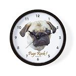 Pugs Rock Wall Clock