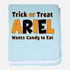 Ariel Trick or Treat baby blanket