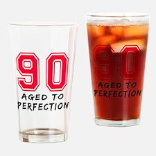 90 Year birthday designs Drinking Glass