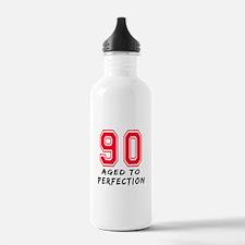 90 Year birthday designs Water Bottle