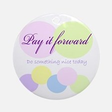 Pay it forward circles Ornament (Round)