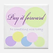 Pay it forward circles Tile Coaster