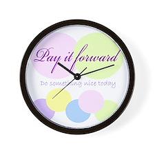 Pay it forward circles Wall Clock