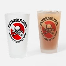 Extreme Dive (Skull) Drinking Glass