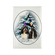 Shih Tzu Christmas Rectangle Magnet (10 pack)