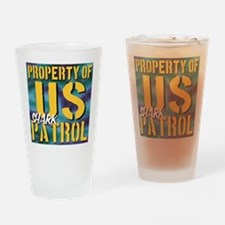 Property of US Shark Patrol Drinking Glass