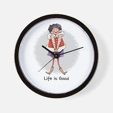 Life is Good #4 Wall Clock