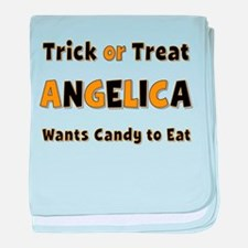 Angelica Trick or Treat baby blanket