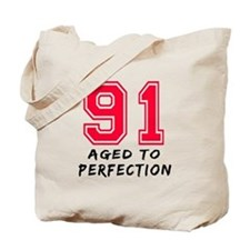 91 Year birthday designs Tote Bag
