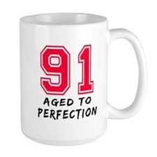 91 Year birthday designs Mug
