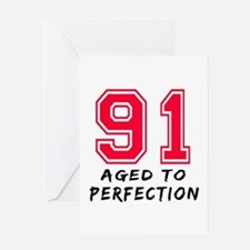 91 Year birthday designs Greeting Card