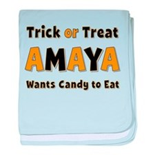Amaya Trick or Treat baby blanket