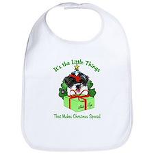 Shih Tzu Christmas Bib