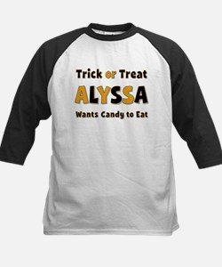 Alyssa Trick or Treat Baseball Jersey