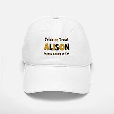 Alison Trick or Treat Baseball Baseball Baseball Cap