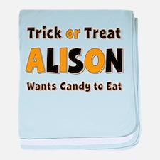 Alison Trick or Treat baby blanket