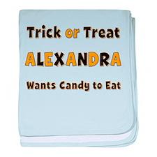 Alexandra Trick or Treat baby blanket
