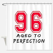 96 Year birthday designs Shower Curtain