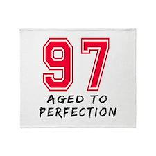 97 Year birthday designs Throw Blanket