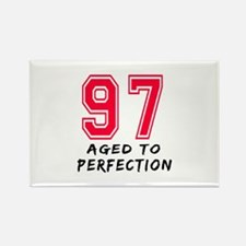 97 Year birthday designs Rectangle Magnet