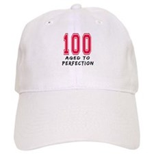 100 Year birthday designs Baseball Cap