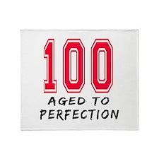 100 Year birthday designs Throw Blanket