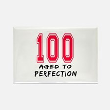 100 Year birthday designs Rectangle Magnet