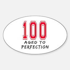 100 Year birthday designs Decal
