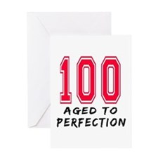 100 Year birthday designs Greeting Card