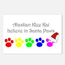 Alaskan Klee Kai Believe Postcards (Package of 8)