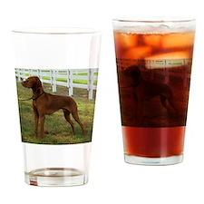 Painted Standing Vizsla Drinking Glass