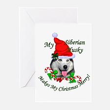 Siberian Husky Christmas Greeting Cards (Pk of 10)