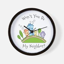 Wont You Be My Neighbor? Wall Clock