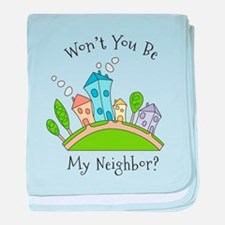 Wont You Be My Neighbor? baby blanket