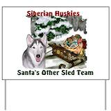 Siberian husky Yard Signs