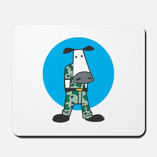 Military Cow in Camo Mousepad