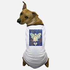 Blue & Gold Cancer Angel Dog T-Shirt