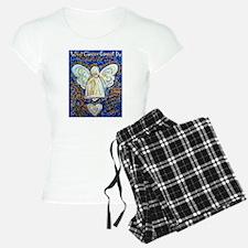 Blue & Gold Cancer Angel Pajamas